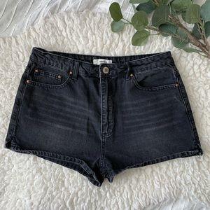 FOREVER21   High-Waist denim shorts